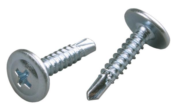 Саморезы с прессшайбой со сверлом, 4.2х13 мм фото