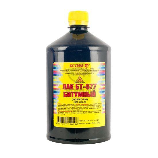 Лак битумный Ясхим Кузбасс-лак БТ-577 (черный), 1 л фото