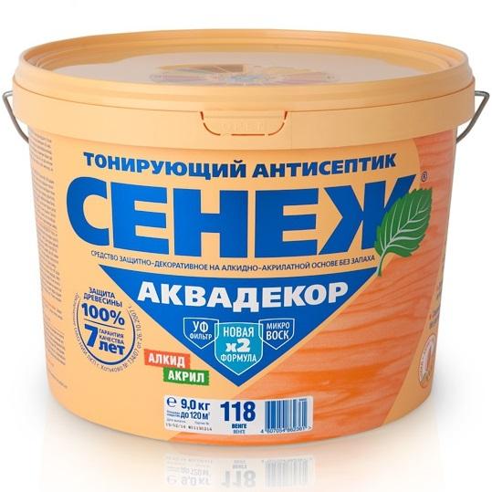 Сенеж Аквадекор 102 2.5 кг Антисептик тонирующий.