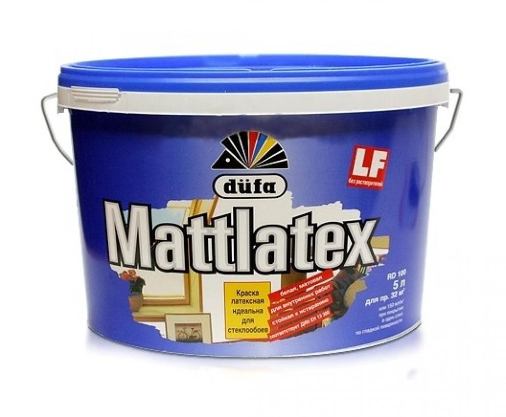 Dufa Mattlatex 10 л, Краска интерьерная латексная (белая) фото
