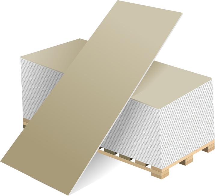 Гипсокартон ГКЛ Волма 2500х1200х9.5 мм.