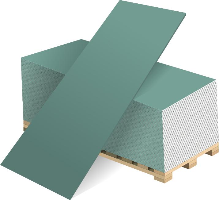 Гипсокартон влагостойкий ГКЛВ Волма, 2500х1200х12.5 мм фото