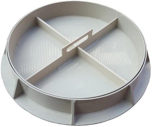 Люк канализационный пластиковый Sprut Decor-1, диаметр 800 мм фото