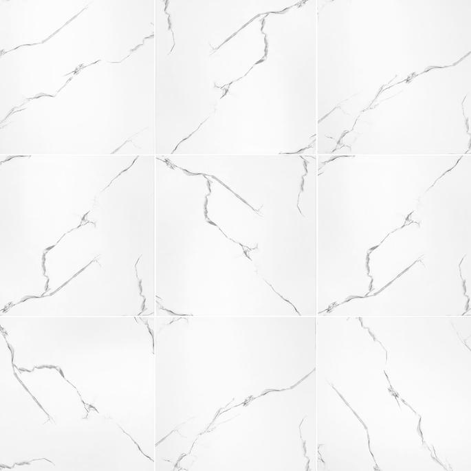 Керамогранит Grasaro Softmarble белый 600х600х10 мм (4 шт.=1,44 кв.м) фото