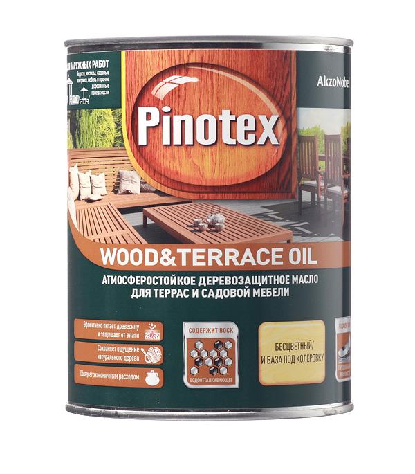Масло Pinotex Wood&Terrace Oil для террас бесцветное