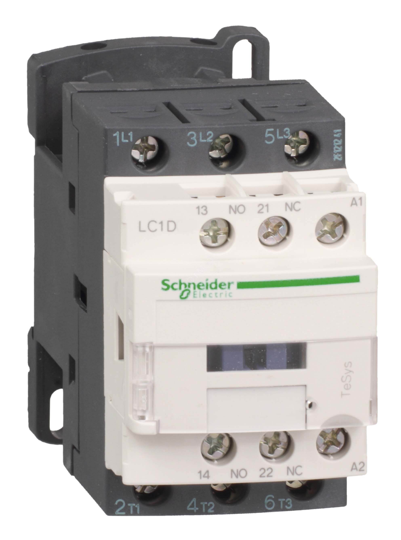 Магнитный пускатель Schneider Electric 220В АС 1НО+1НЗ LC1D, номинальный ток 80А фото
