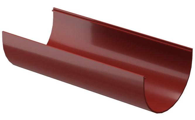 Docke Standard 120/80 мм, 2 м, Желоб водосточный ПВХ красный фото