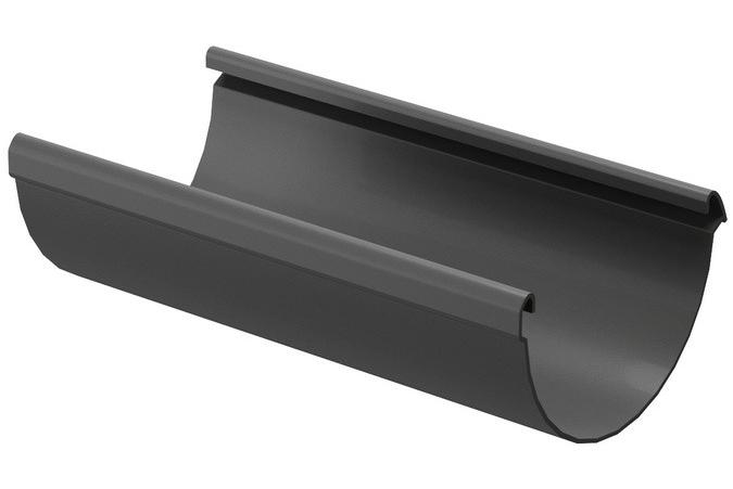 Docke Lux 141/100 мм, 3 м, Желоб водосточный ПВХ графит фото