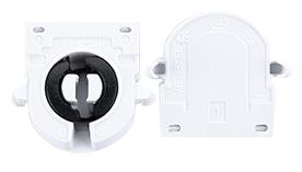 G13 Ecola base Патрон пластиковый торцевой (поворотный с защелками).