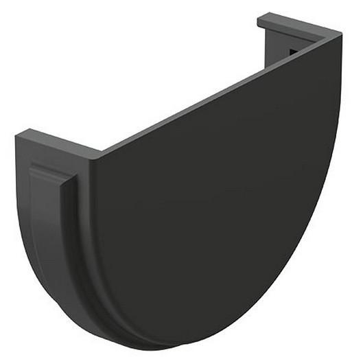 Docke Premium 120/85 мм, Заглушка желоба с уплотнителем ПВХ графит фото