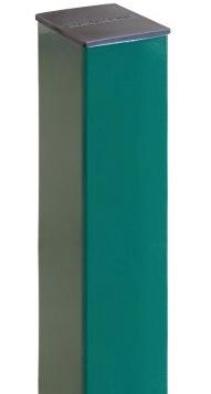 Grand Line Ral 6005 2000х62х55 мм, Столб для забора на 3 отверстия с заглушкой (зеленый) фото