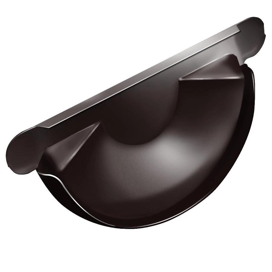 Grand Line RR 32 150/100 мм, Заглушка желоба оцинкованная темно-коричневая фото