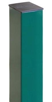 Grand Line Ral 6005 2500х62х55 мм, Столб для забора на 4 отверстия с заглушкой (зеленый) фото