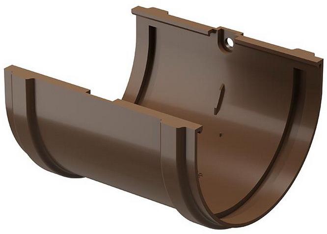 Docke Standart 120/80 мм, соединитель желоба ПВХ светло-коричневый фото