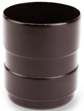 Galeco RAL 8019, 152/100 мм, Соединитель водосточной трубы ПВХ коричневый фото