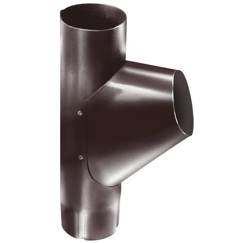 Тройник водосточной трубы оцинкованный Grand Line RAL 8017 (коричневый), диаметр 150/100 мм фото