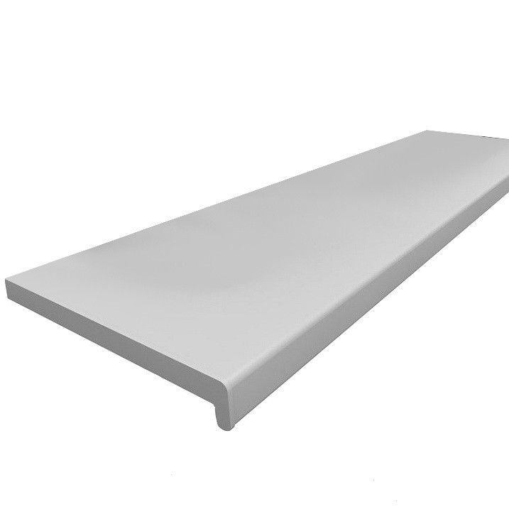 Подоконник ПВХ Панельпласт белый матовый 100х6000 мм фото