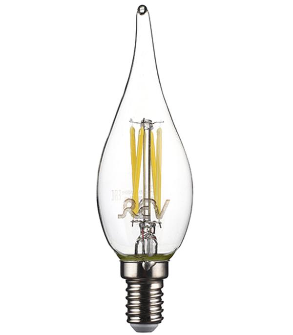 Лампа светодиодная REV 7 Вт Е14 филаментная свеча на ветру FC37 4000 К дневной свет 230 В фото