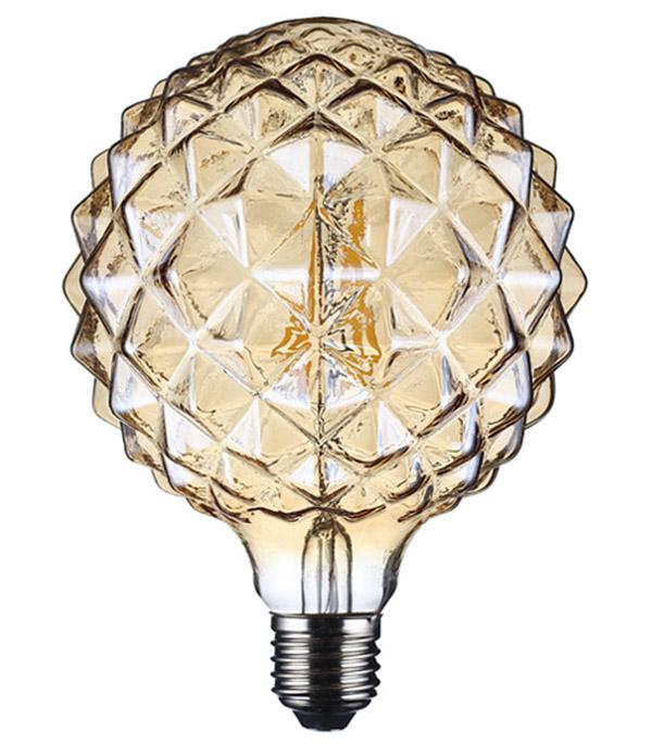 Лампа светодиодная REV VINTAGE 5 Вт Е27 филаментная шар G95 2200 К теплый свет 230 В фото