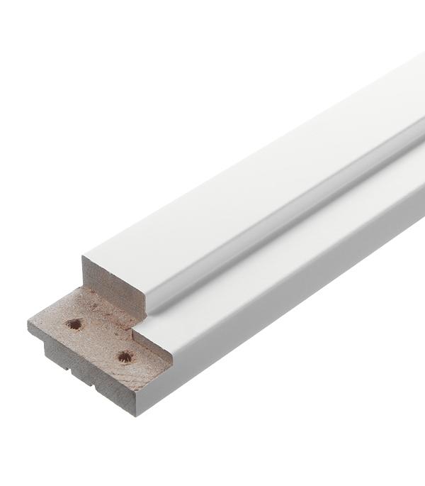 Коробка дверная Верда ламинированная финишпленка белое гладкое 34х70х2070 мм (620 мм) (2,5 шт.) фото