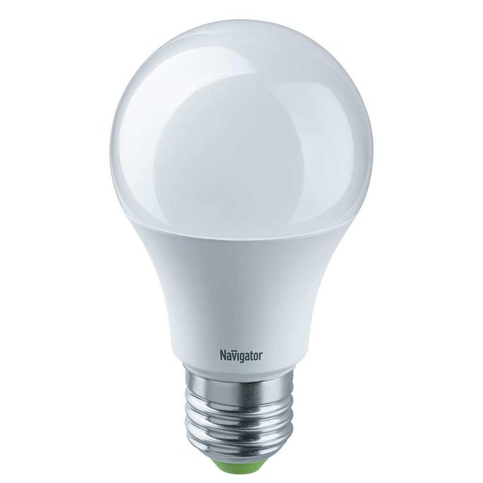 Лампа светодиодная Navigator 10 Вт E27 груша A60 4000 К дневной свет 12-24 В фото