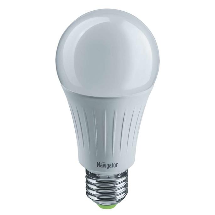 Лампа светодиодная Navigator 12 Вт E27 груша A60 4000 К дневной свет 230 В диммируемая фото