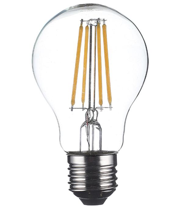 Лампа светодиодная Osram 7 Вт Е27 филаментная груша A60 2700 К теплый свет 230 В фото