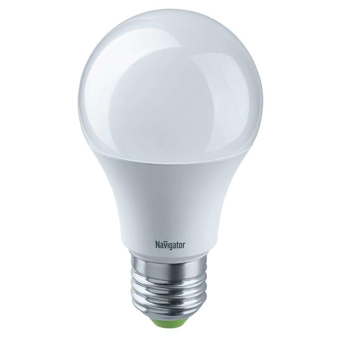 Лампа светодиодная Navigator 7 Вт E27 груша A60 4000 К дневной свет 24-48 В фото
