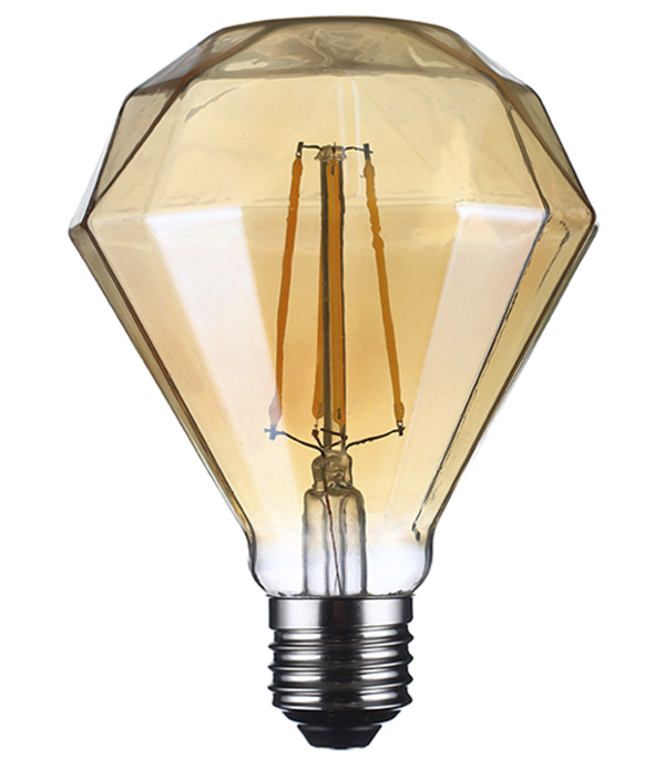 Лампа светодиодная REV VINTAGE 5 Вт Е27 филаментная кристалл 2200 К теплый свет 230 В фото
