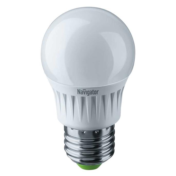 Лампа светодиодная Navigator 7 Вт E27 шар G45 2700 К теплый свет 230 В диммируемая фото