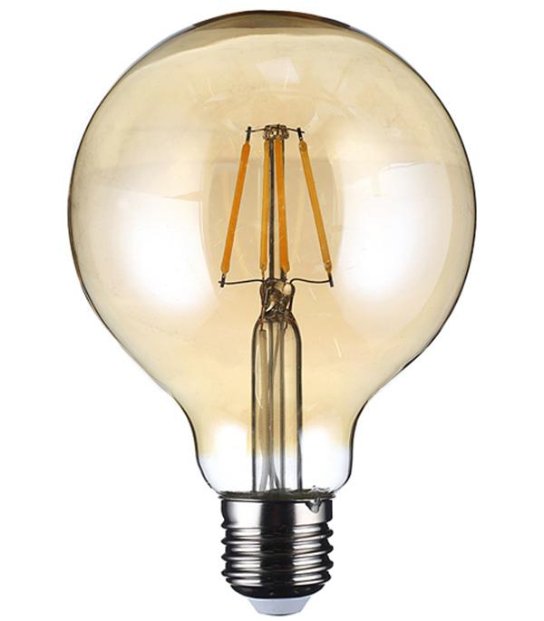 Лампа светодиодная REV 7 Вт Е27 филаментная шар G95 2700 К теплый свет 230 В фото