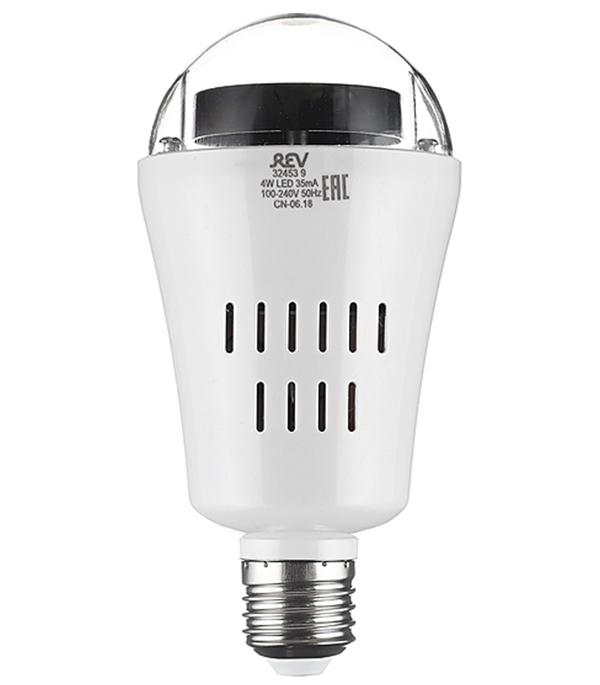 Лампа светодиодная REV Disco 4 Вт Е27 груша 230 В проекционная 4 сменных модуля RGB фото