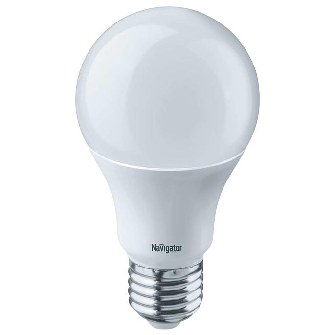 Лампа светодиодная Navigator 10 Вт E27 груша A60 2700 К теплый свет 230 В диммируемая фото