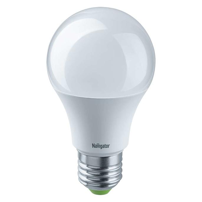 Лампа светодиодная Navigator 7 Вт E27 груша A60 4000 К дневной свет 12-24 В фото