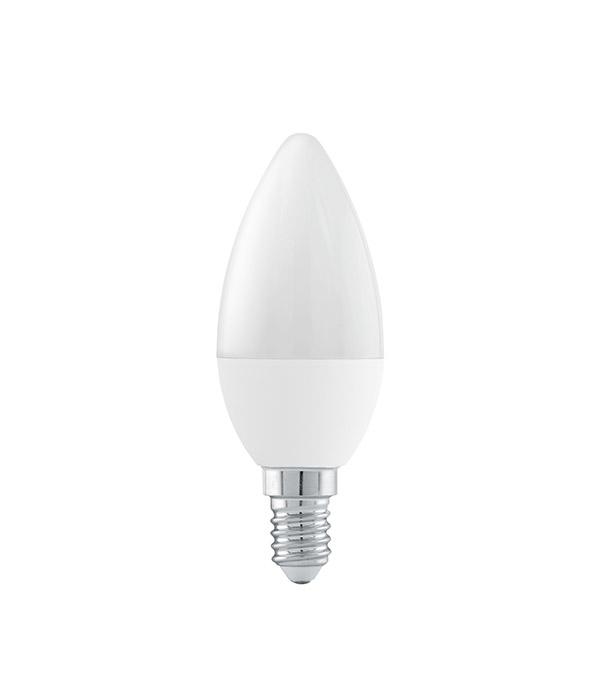 Лампа светодиодная Онлайт 6 Вт Е14 свеча С37 2700 К теплый свет 230 В матовая фото