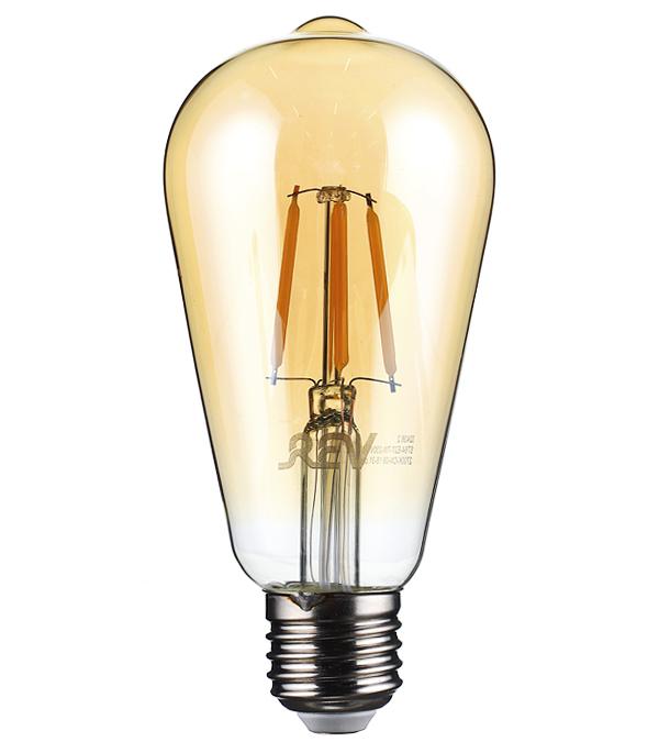 Лампа светодиодная REV 7 Вт Е27 филаментная колба ST64 2700 К теплый свет 230 В фото