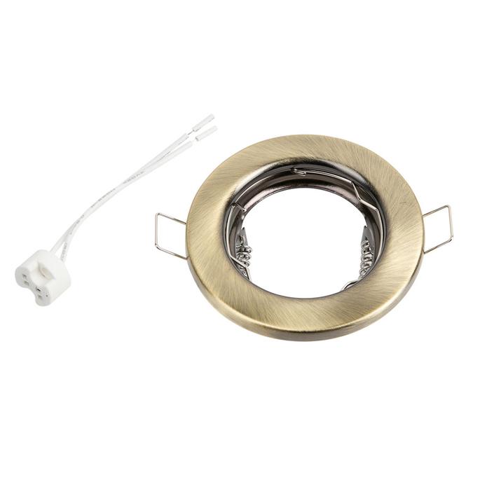 Светильник встраиваемый Sholtz GU5.3 MR16 d80 мм круглый IP20 черненая бронза