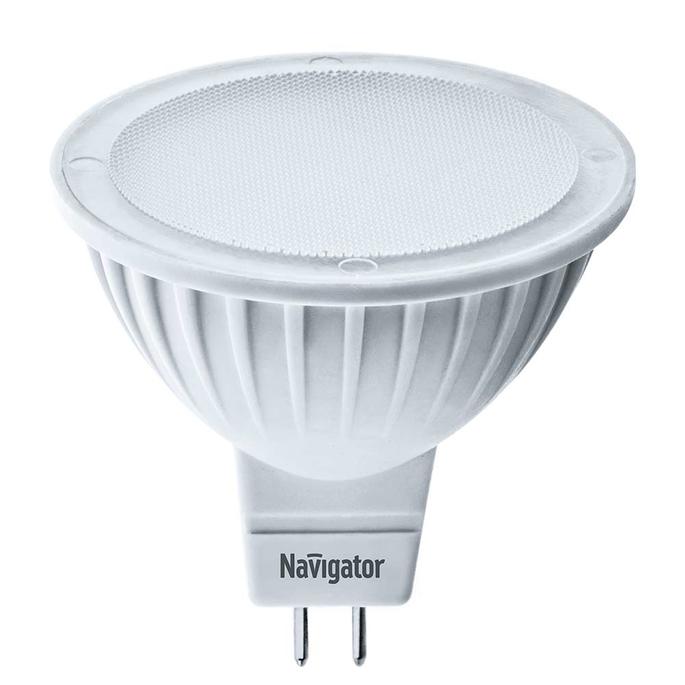 Лампа светодиодная Navigator 7 Вт GU5.3 рефлектор MR16 3000 К теплый свет 230 В диммируемая фото