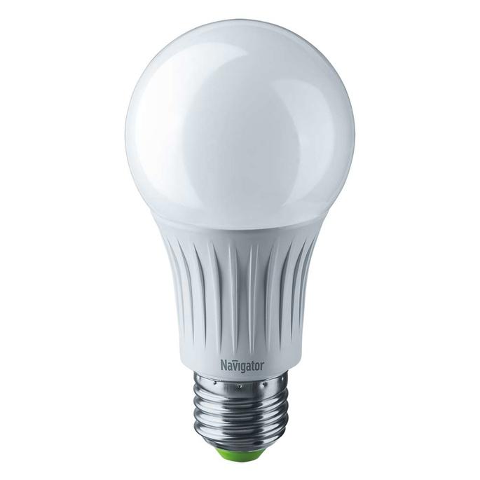 Лампа светодиодная Navigator 12 Вт E27 груша A60 4000 К дневной свет 127 В фото