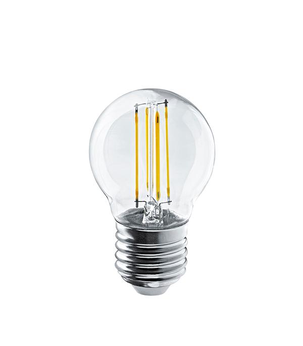 Лампа светодиодная Navigator 4 Вт Е27 филаментная шар 2700 К теплый свет 230 В фото