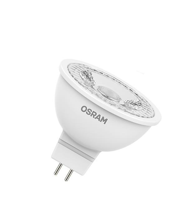 Лампа светодиодная Osram 4,2 Вт GU5.3 рефлектор MR16 3000 К теплый свет 12 В фото