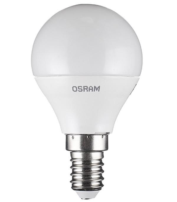 Лампа светодиодная Osram 5 Вт Е14 шар CLP40 2700 К теплый свет 230 В матовая фото