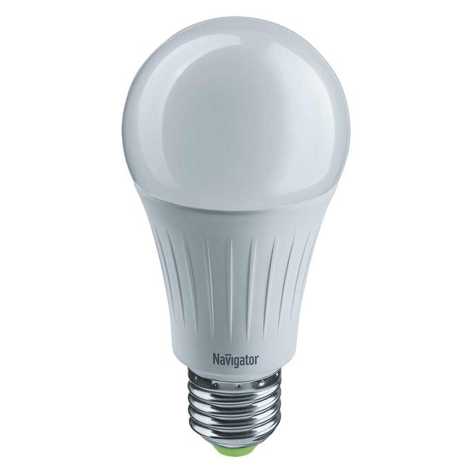 Лампа светодиодная Navigator 15 Вт E27 груша A60 4000 К дневной свет 127 В фото