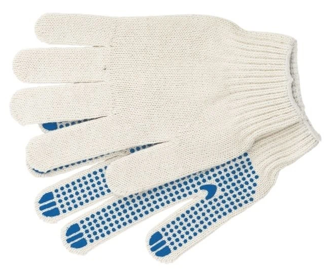 Перчатки с ПВХ покрытием точка 10 67702, (5 нитей)