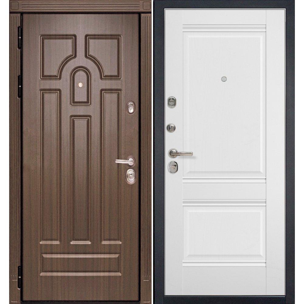 Дверь Profil Doors 1U Аляска HD1 входная металлическая с панелью.
