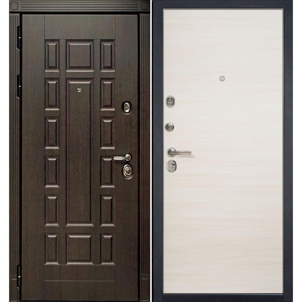 Входная металлическая дверь HD3/1Z Эш Вайт Кроскут 860х2050 фото