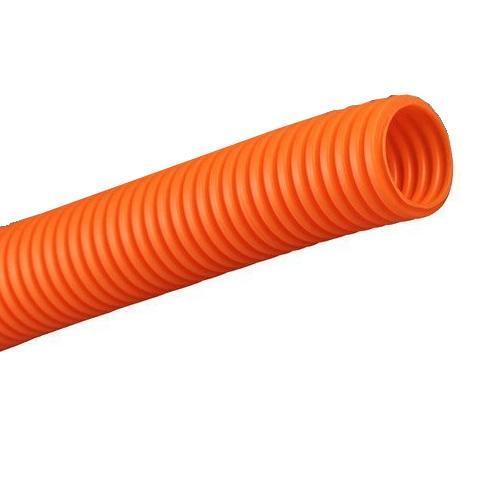Труба DKC гофрированная ПНД 20 мм с протяжкой оранжевая (100м) фото