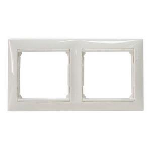 Рамка двойная Legrand Valena, белый глянцевый 774452 фото