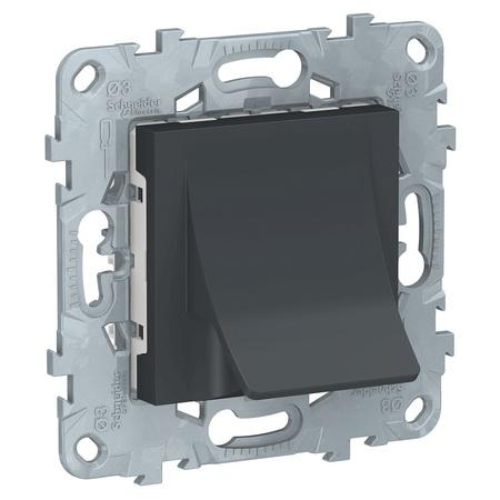 Вывод для кабеля диаметром до 12 мм Schneider Unica New, антрацит NU586254 фото