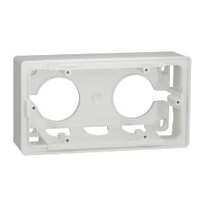 Двухместная коробка для накладного монтажа Schneider Electric Unica Studio, белый NU800418 фото